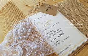 Burlap And Lace Wedding Invitations Burlap And Lace Wedding Invitations Rustic Invitation Shabby Etsy