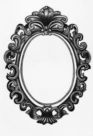 vintage mirror drawing. jezebel frame 30 inches by 42 charcoal drawing www.sarahhreynolds.com vintage mirror 1