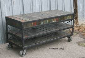 Custom Made Mid Century ModernVintage Industrial Media ConsoleTv Stand  Rustic Rustic Industrial Tv Stand O87