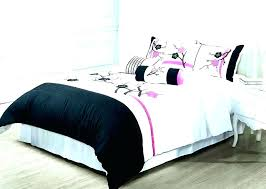 black and white comforter silver set queen all duvet cover