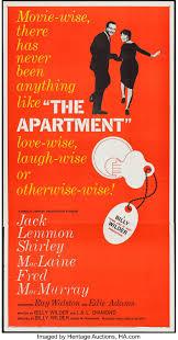The Apartment United Artists 1960 Flat Folded Three Sheet 41