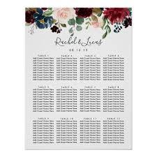Radiant Bloom Wedding Seating Chart