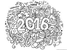 Small Picture New Years 2016 Coloring 2016 calendar Doodles and Christmas