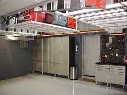 image of garage overhead storage diy