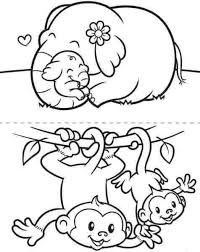 Small Picture baby elephant coloring pages monkey and elephant coloring pages