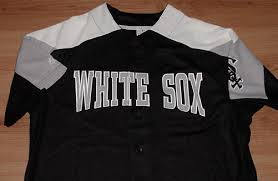 Details About Chicago White Sox Jersey Large Black Embroidered Majestic Mlb