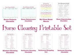 Bathroom Cleaning Schedule Mesmerizing Cleaning Schedule Printable Set Keep Your House Clean Etsy