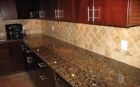 Backsplash Pictures For Granite Countertops Awesome Baltic Brown Granite Countertops With Light Tan Backsplashwould