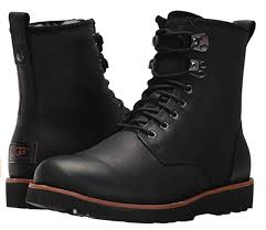 ugg men s hannen tl casual leather winter boots black 1008139 size 10 us