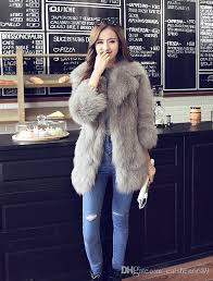 2017 new autumn winter coat korean faux fur coat long paragraph las lapel coat fox fur jacket women clothing fashion coats women coat women jacket women
