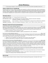 Computer Technician Sample Resume Best of Technician Resume Example Pharmacy Technician Resume Example