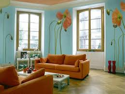 Painting For Living Room Wall Interior Awesome Living Room Decoration With Light Blue Asian