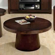 round dark wood coffee table large black square