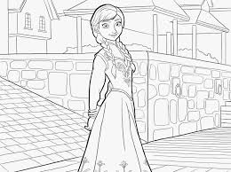 Frozen Elsa Anna Coloring Pages Frozen
