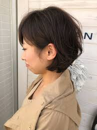 くせ毛を活かしたひし形ショートボブ ヘアスタイル2019 ヘア