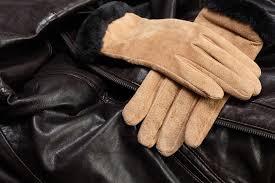fur coat suede fur trimmed gloves suede ugg boots leather jacket
