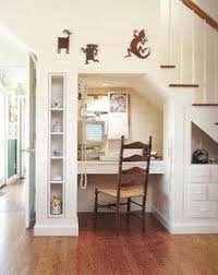 desk under stairs - Google Search