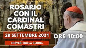 Santo Rosario di oggi 29 Settembre 2021 recitato dal Cardinal Comastri -  YouTube