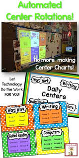 Reading Center Rotation Chart Small Group Instruction Management Each Day Confusion And