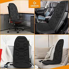 massage chair for car. it has various speeds of pulsations and vibrations with different patterns to choose from turns off automatically after 30-minutes. massage chair for car