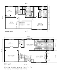 Story House Floor Plans Two Story House Plans Home Designs