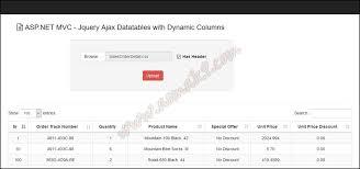 asp net mvc jquery ajax datatables