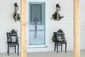 how to hang garland around front doorHow To Put Garland Around The Front Door Images  French Door