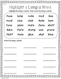 Download, print, or use the kindergarten our phonics worksheets offer the beginning stage of making the connection by identifying the first letter. Pin On Long U