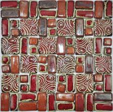 hand craft red porcelain mosaic tiles backsplash kitchen wall tile pcmt078 ceramic mosaic bathroom tiles mosaics