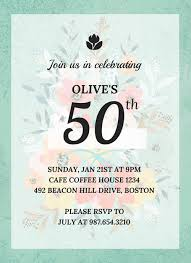 50th Birthday Invitations Templates Vintage 50th Birthday Invitation Template Venngage