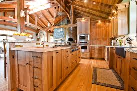 Quarter Sawn Oak Kitchen Cabinets Kitchen Rustic With Accent Lighting Barstools Ceiling  | Beeyoutifullife.com