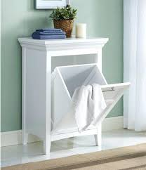 white clothes hamper wood laundry hamper white clothes storage basket bathroom cabinet shelf room wooden double