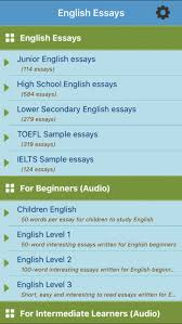 learn english essays on the app store iphone screenshot 1