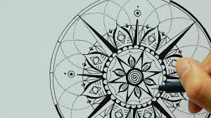 compass design mandala heart compass tattoo design ulrike hirsch youtube