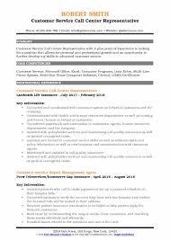 Sample Resume For A Call Center Agent Customer Service Call Center Representative Resume Samples