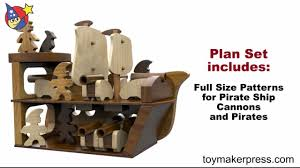 wood toy plans jolly roger pirate ship cannons and crew