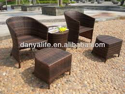 dybs d5204 garden patio bistro set outdoor restaurant table chair wicker rattan cane cafe table chair set 2 seat coffee table in garden sets from