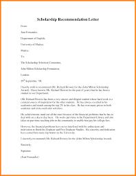 5 Recommendation Letter Sample For Student Scholarship Appeal Letter