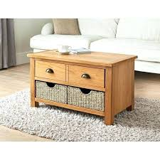coffee tables with basket storage oak table baskets furniture 2 under
