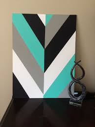 Canvas Design Ideas hand painted modern chevron arrow geometric canvas art by smileyryleecreations on etsy https