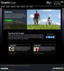 website template video web template ourearth black with integrated mobile website