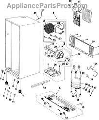 refrigerator motor. part diagram refrigerator motor