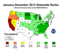California Annual Rainfall Chart National Climate Report Annual 2013 State Of The Climate