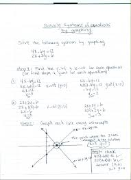 graphing is another way of solving a system of equations the problem with the graphing method is that if your graph is not exact and if you are not using