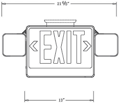 combo led exit emergency lights cableorganizer com exit sign dimensions