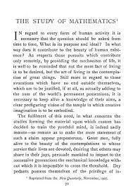 philosophical essays the study of mathematics bertrand russell