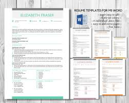 Simple Resume Template Word Format By Inkpower On Creative Market