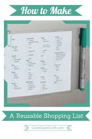 How To Make A Grocery List How To Make A Reusable Grocery List Cook Clean Craft