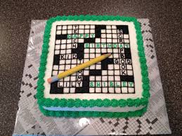 Puzzle Cake Designs Crossword Puzzle Birthday Cake Cakey Goodness In 2019