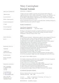 personal assistant duties for resume personal assistant sample personal  assistant job description resume sample